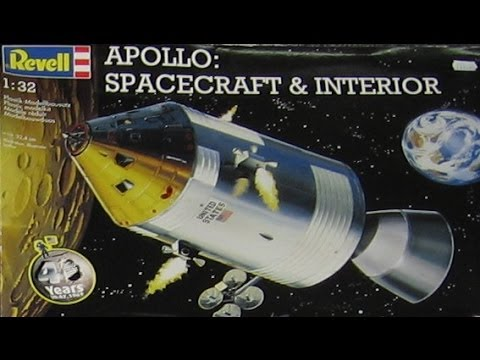 "AlexModelling ""OUTBOX REVIEW"" of the 1/32 Revell APOLLO SPACECRAFT E INTERIOR"