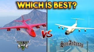 WHICH IS BEST CARGO PLANE? (GTA 5 VS GTA SAN ANDREAS)