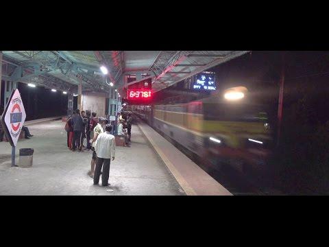12128 Pune Mumbai Superfast Intercity Express Furiously Skips Bhivpuri Road !!!