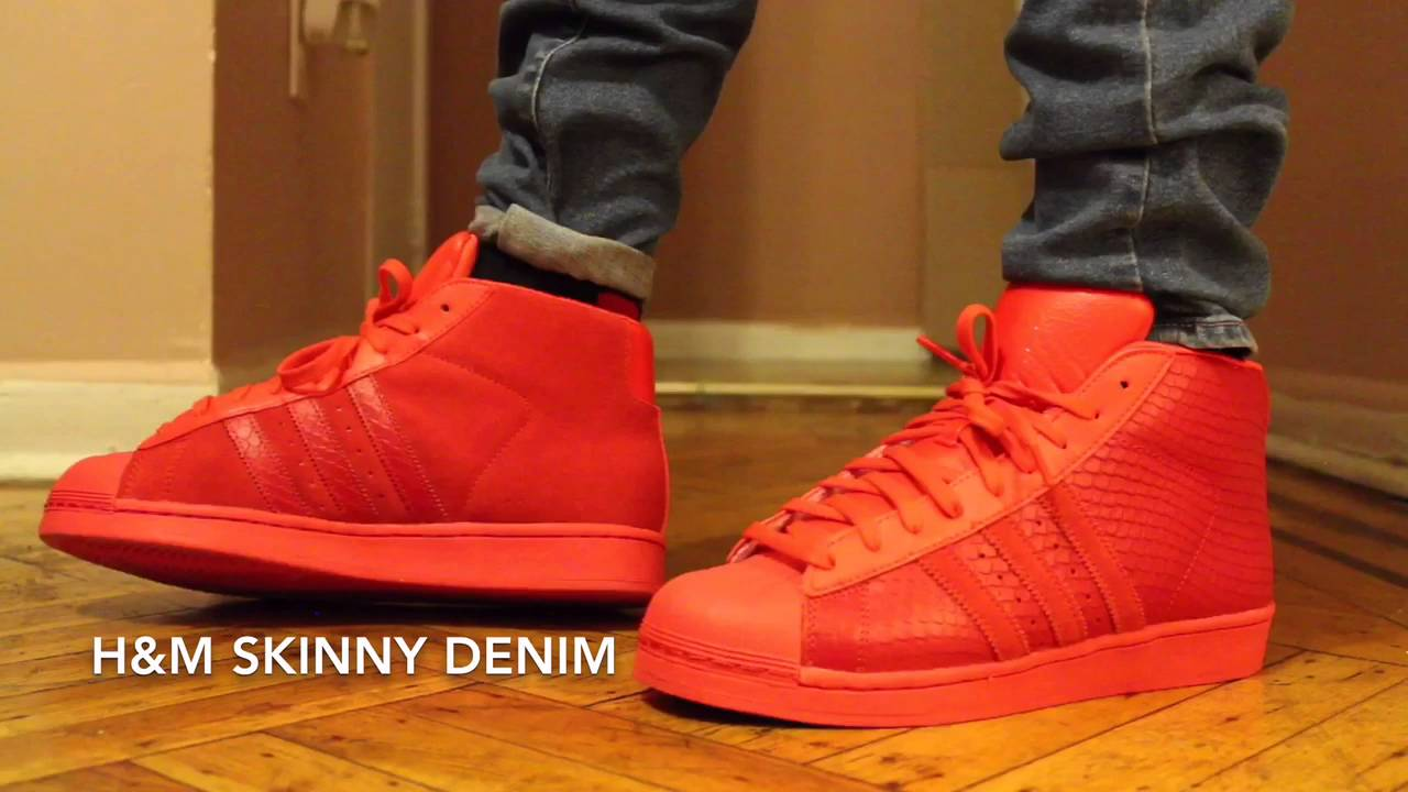 Red Adidas Pro Model Look + On Feet - YouTube 32219973cda