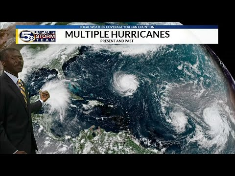 Hurricane Florence, Helene, Isaac in the Atlantic