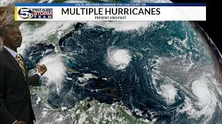 Hurricane Florence, Helene, Isaac in the Atlantic