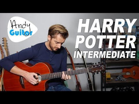 Harry Potter Fingerstyle Guitar Lesson  melody + chords