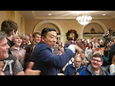 The FUNNIEST Candidate: Andrew Yang Makes NH Voters Laugh Harder AND Think Harder