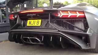 Supercars in Alderley edge (918 Spyder, Aventador SV, F12, Aventador, 488 x2, Huracan Spyder...)