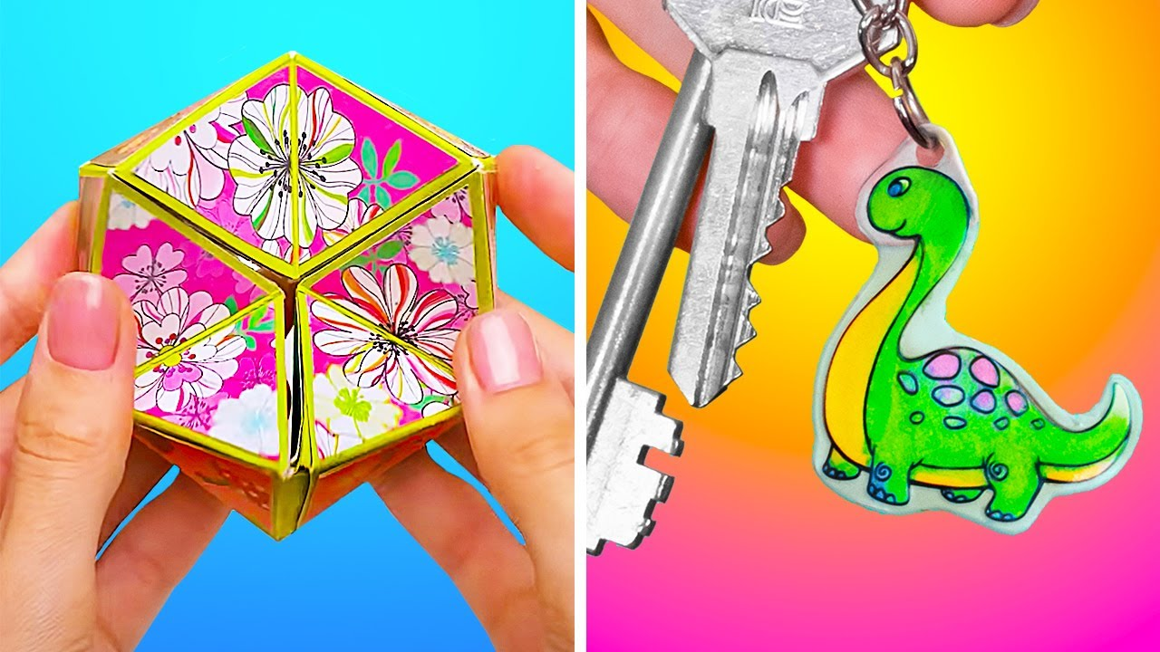 Download Awesome DIY Small CraftsYou CanDo At Home! || Shrink Charms And Fidget Spinner