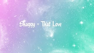 Shaggy That Love Lyrics