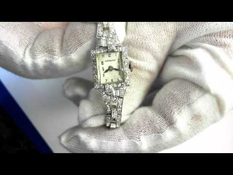 Hamilton Art Deco Period Wristwatch (circa 1930) - Platinum and Diamonds