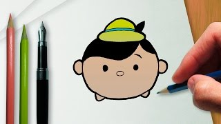 How to draw Pinocchio Disney Tsum Tsum version