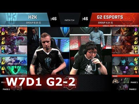 G2 eSports vs H2K Gaming | Game 2 S7 EU LCS Summer 2017 Week 7 Day 1 | G2 vs H2K G-2 W7D1