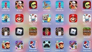 ScaryTeacher3D,MrMeat,Minecraft,Roblox,TrollHorror,Branny,Subway,Tom Run,Mario,Minion,Moto,FunRace3D