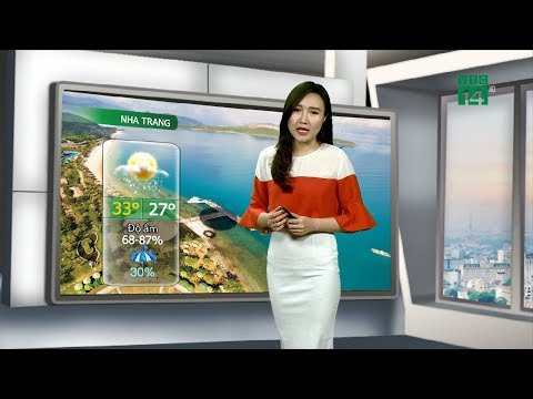 Thời tiết đô thị 28/08/2019: Nha Trang mưa dông xuất hiện về chiều tối nhưng lượng không nhiều VTC14