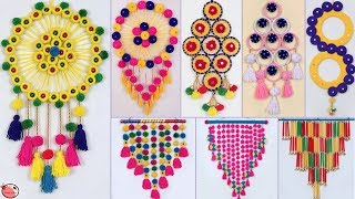 10 DIY Woolen Wall Hanging Ideas !! DIY Room Decor !!!