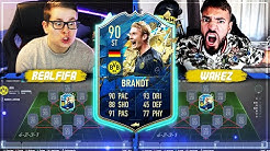 FIFA 20: TOTS BRANDT Squad Builder Battle 🔥🔥 Wakez vs Realfifa !!