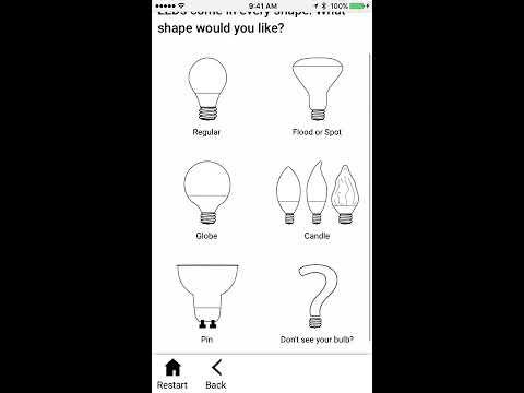 Right Light App for Energy-Saving LED Bulbs