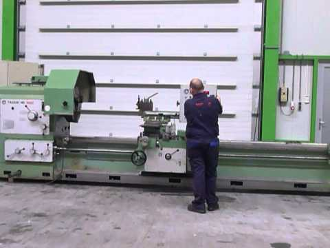 TACCHI HD 1150 x 8000 Heavy duty lathe mach4metal Poreba Giana Wohlenberg VDF