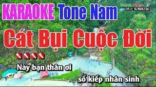 Cát Bụi Cuộc Đời Karaoke || Tone Nam - Nhạc Sống Thnah Ngân