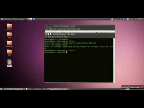 How to write, compile and execute c program in linux (ubuntu)