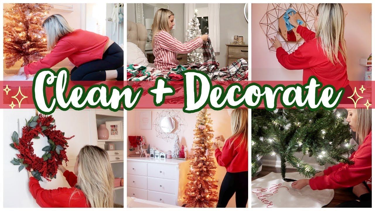 *NEW* CHRISTMAS 2019 CLEAN AND DECORATE WITH ME // CHRISTMAS HOME TOUR image