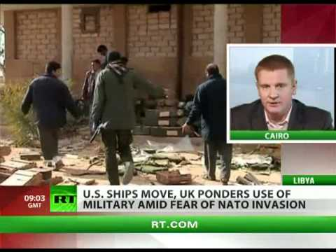 US ships  UK planes near Libya amid fears of Nato invasion