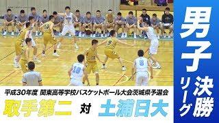 [高校バスケ]男子決勝リーグ|平成30年度関東高校バスケットボール大会茨城県予選会