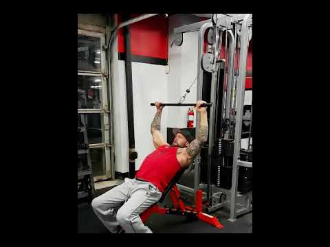 Incline Bench Cable Pullovers - YouTube
