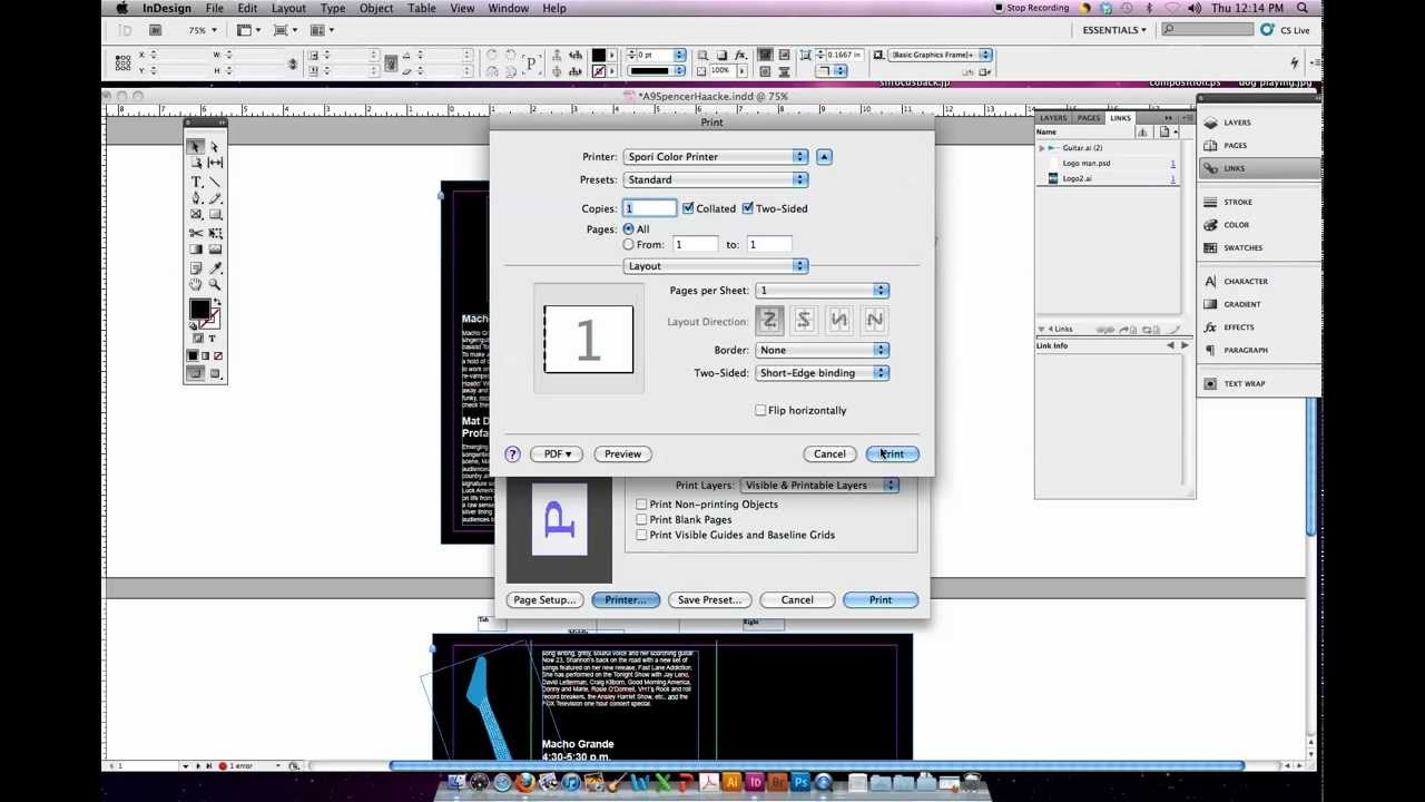 how to stop printing double sided on mac
