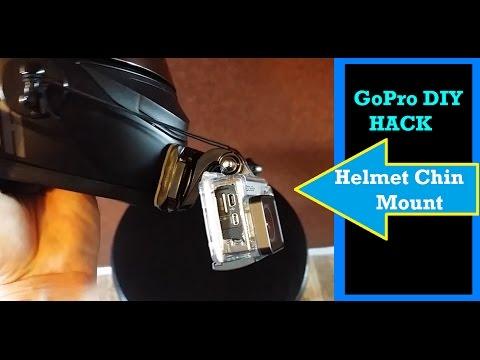 DIY GoPro Hack Chin Mount Motorcycle Helmet S/S