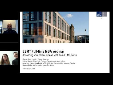 ESMT Webinar - Advancing your career with an MBA from ESMT Berlin