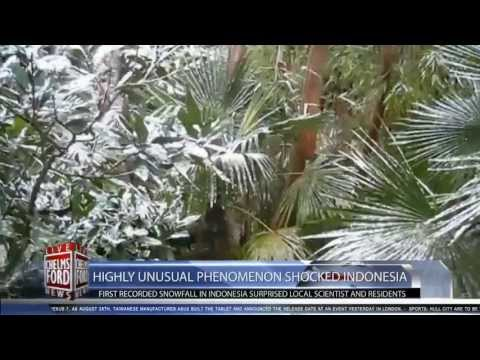 Indonesia's First Recorded Snowfall: Highly Unusual Phenomenon