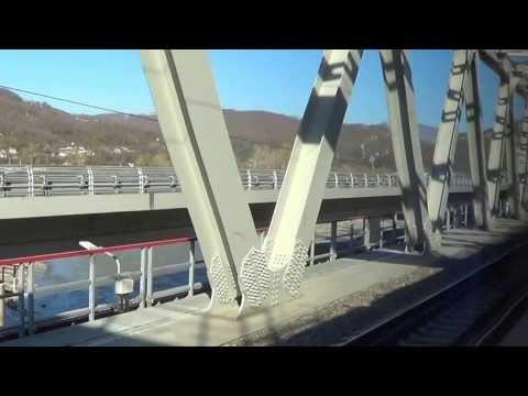 Olympic railway Sochi, Krasnaya Polyana mountain view