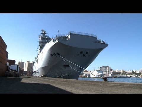French boat carrying military equipment arrives in Dakar