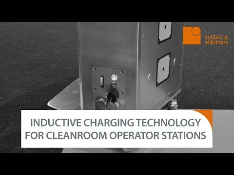 Inductive charging technology for cleanroom operator stations - TROLLEY LIGHT INDUCTIVE