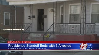 Providence police make 3 arrests after eight hour standoff