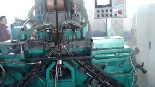 Automatic chain welding machine used for high strength chain making.avi