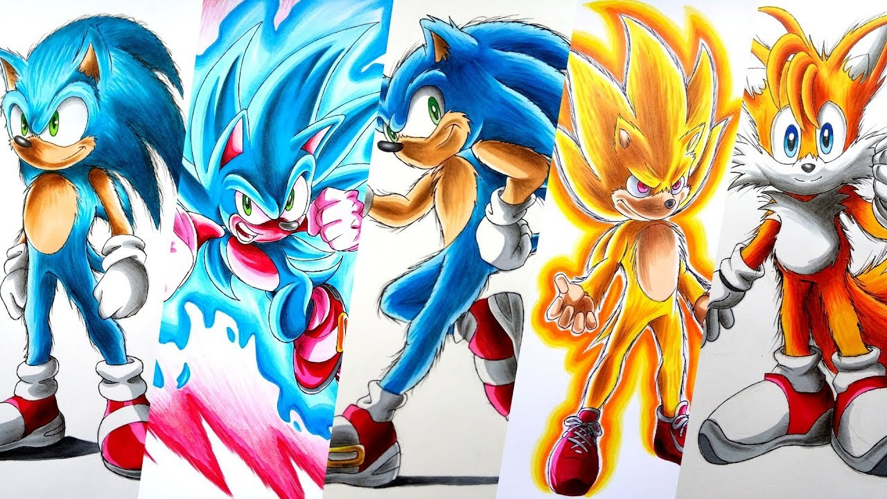 This is a photo of Irresistible Drawing Sonic Characters