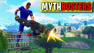 MINIGUN COME PROPULSORE DEL CARRELLO? - FORTNITE MYTHBUSTERS #12