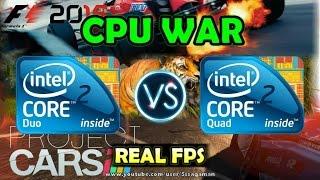 CPU WAR: C2D E8400 Vs C2Q Q8300 | Far Cry 4 - Project CARS - F1 2015