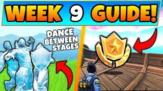 Fortnite week 9 challenges with dance between three ice sculptures location and the secret battle star location in season 8 of Battle Royale! This guide also ...
