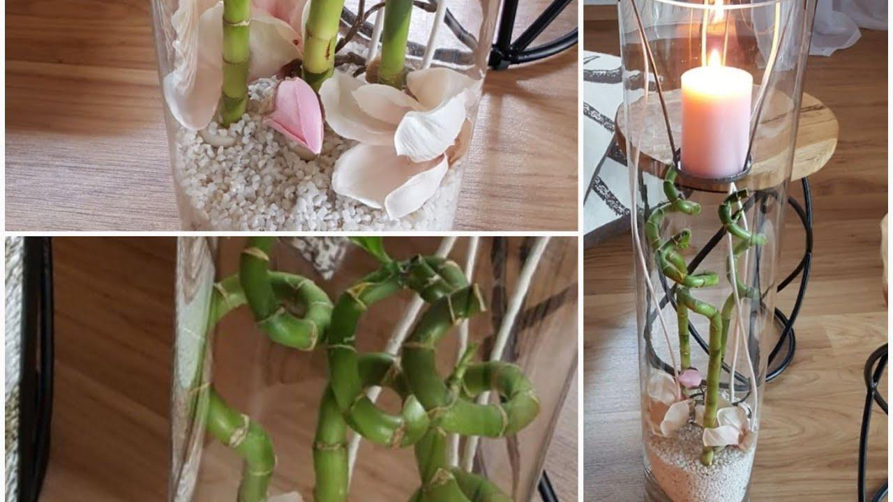 deko im leonardo glas bambus magnolie rose weiss deko. Black Bedroom Furniture Sets. Home Design Ideas