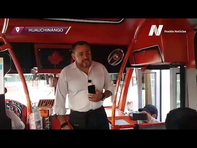 #SET #PueblaNoticias Realizan supervisión a transporte público ante contingencia, en Huauchinango