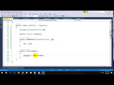 CRUD with MySQL Database in ASP.NET Core Razor Pages and Entity Framework Core thumbnail