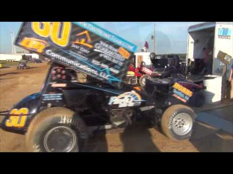 Trail-Way Speedway 358 Sprint Car Highlights 07-22-16