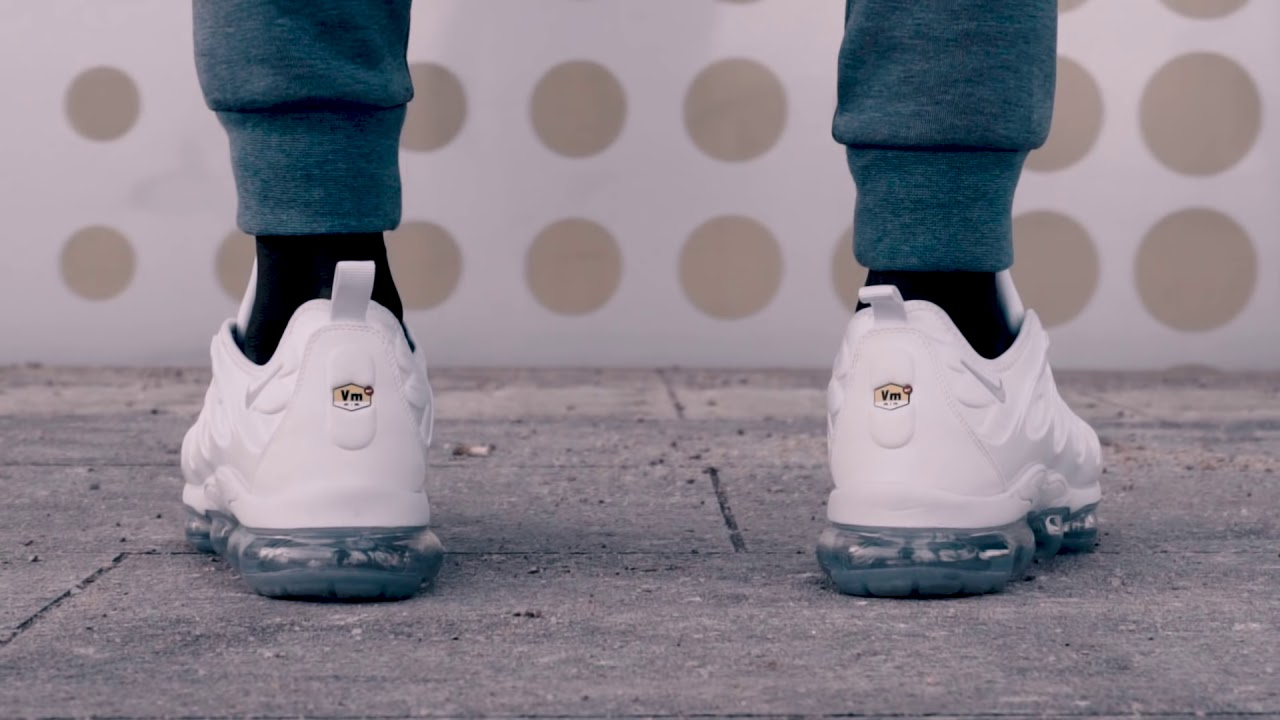 599bead4005 Street Test  Nike VaporMax Plus  Triple White  - YouTube