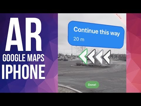 How To Use AR View On Google Maps | IPhone XS IPhone 8 IPhone 7 IPhone 6 IPhone SE