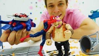 Супергерои МАРВЕЛ! Видео с Человеком-Пауком. Ловушка для Бибопа.