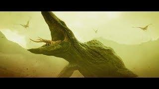 Черепозавр нападает на отряд полковника. \ Конг: Остров черепа