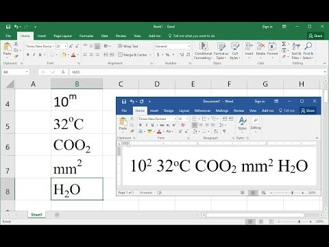 Shortcut Key To Do Superscript & Subscript In MS Excel & Word