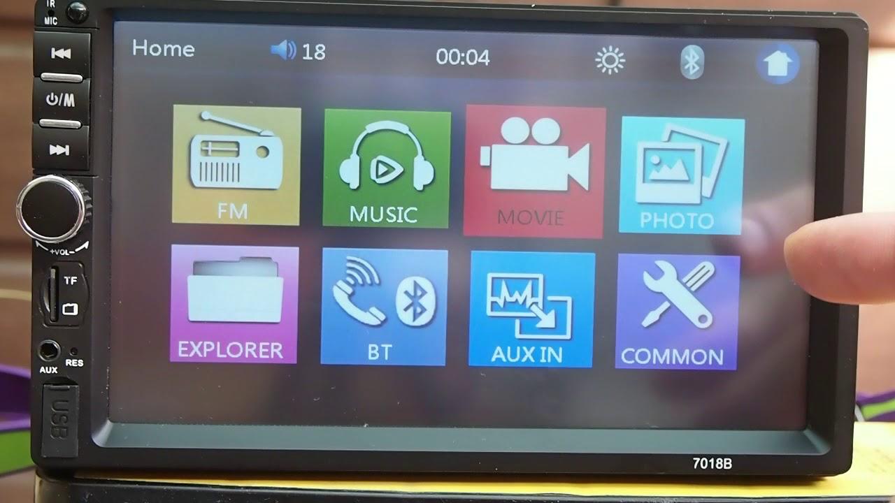 Autoradio - 7018B 7'' HD 2 DIN Bluetooth USB/FM/MP5/MP4/MP3 Player