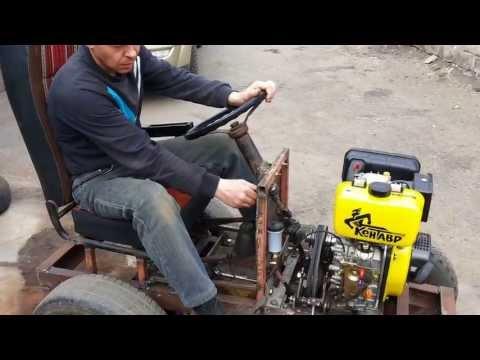видео: собрал мини трактор